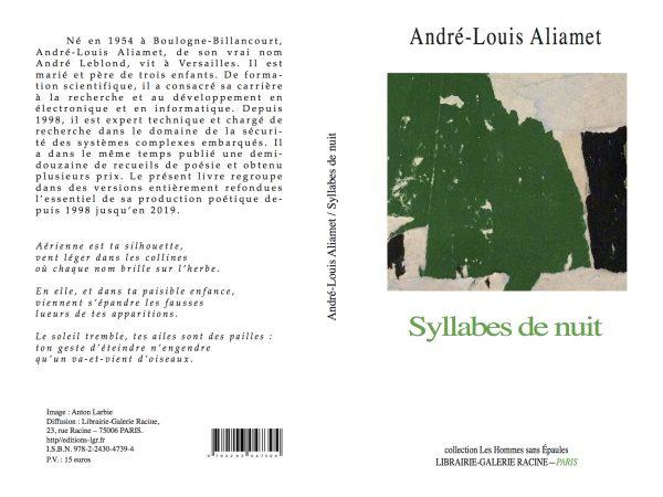 André-Louis Aliamet - Syllabes de nuit